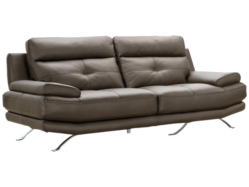 Canapé 3 places DYLAN cuir véritable brun