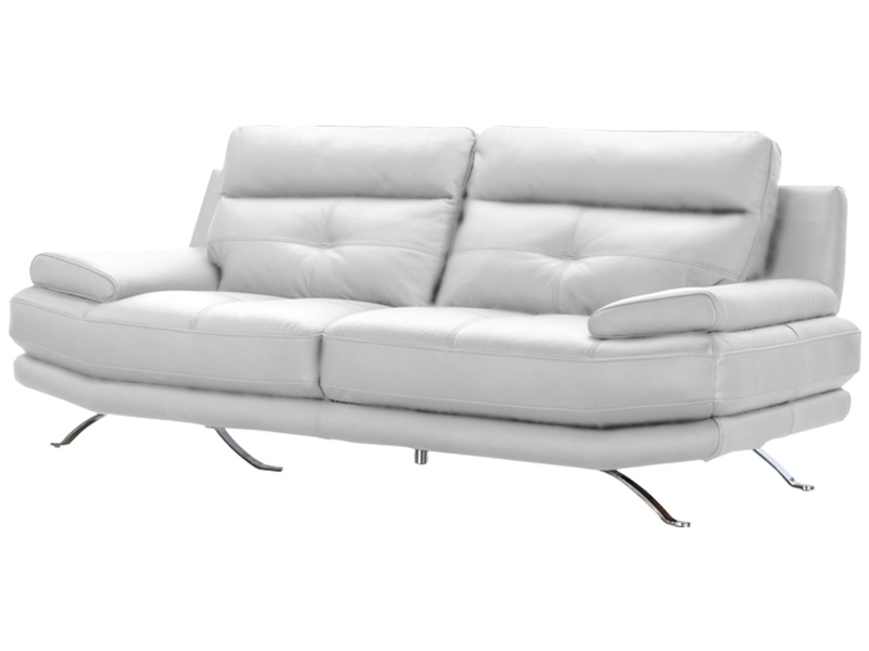 Canapé 3 places DYLAN cuir véritable blanc
