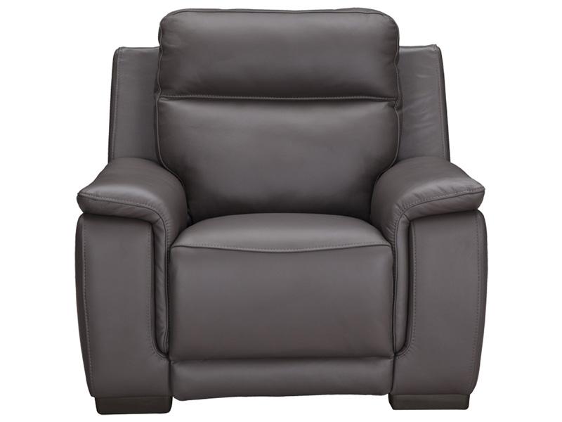 Fauteuil relax LOUVRE cuir véritable gris