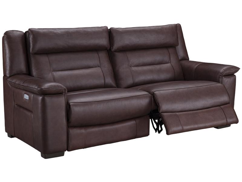 3er Sofa VALENCE Echtleder braun