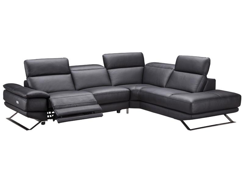 Canapé d'angle LORD cuir véritable taupe