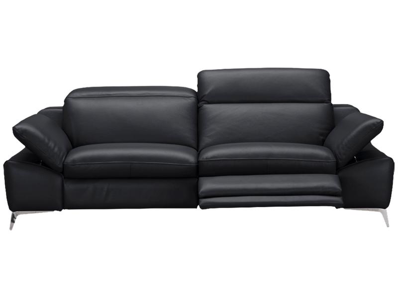 Canapé 3 places ROMEO cuir véritable noir