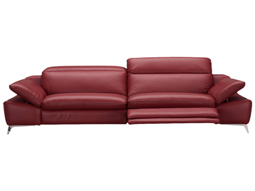 Canapé 3 places ROMEO cuir véritable rouge