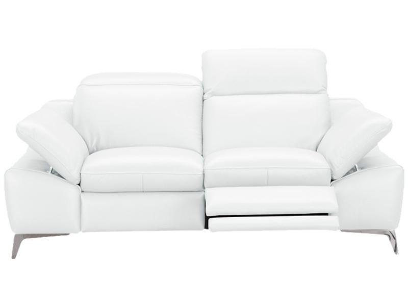 Canapé 2 places ROMEO cuir véritable blanc