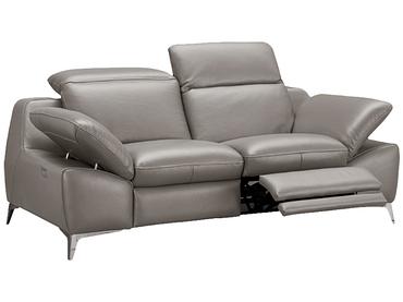 Canapé 2 places ROMEO cuir véritable taupe