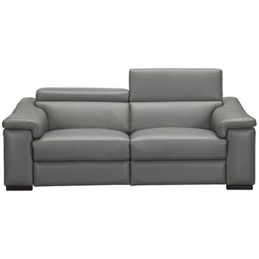 Canapé 3 places FILIP cuir véritable gris ombré