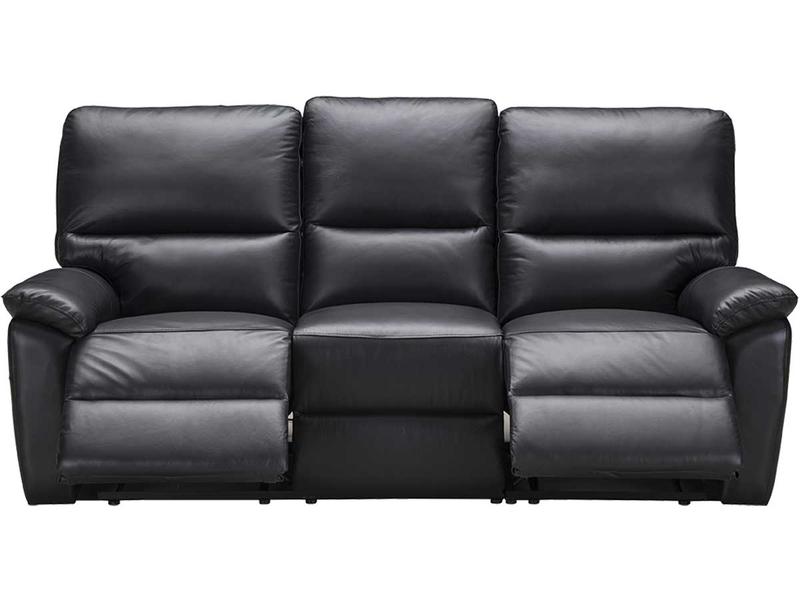 Canapé 3 places REMY cuir véritable noir
