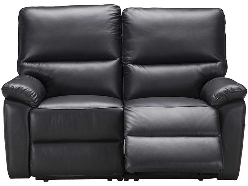 Canapé 2 places REMY cuir véritable noir