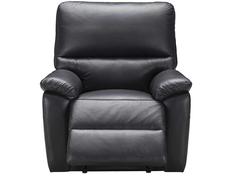 Fauteuil relax REMY cuir véritable noir