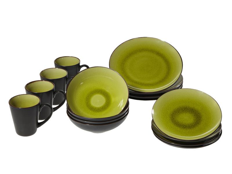 Set vaisselle ZEN 16 pièces 4 personnes porcelaine