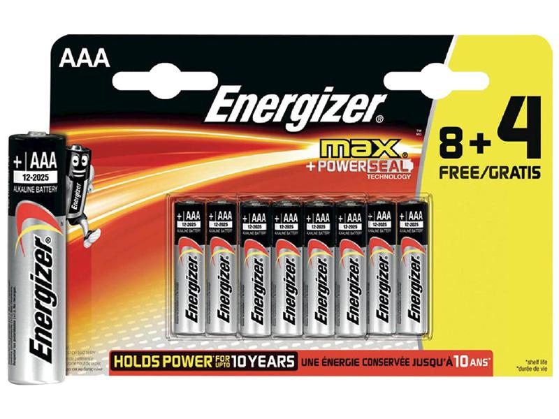 Piles ENERGIZER AAA 12
