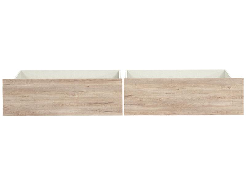 Set de 2 tiroirs TEMPO panneau de particules chêne