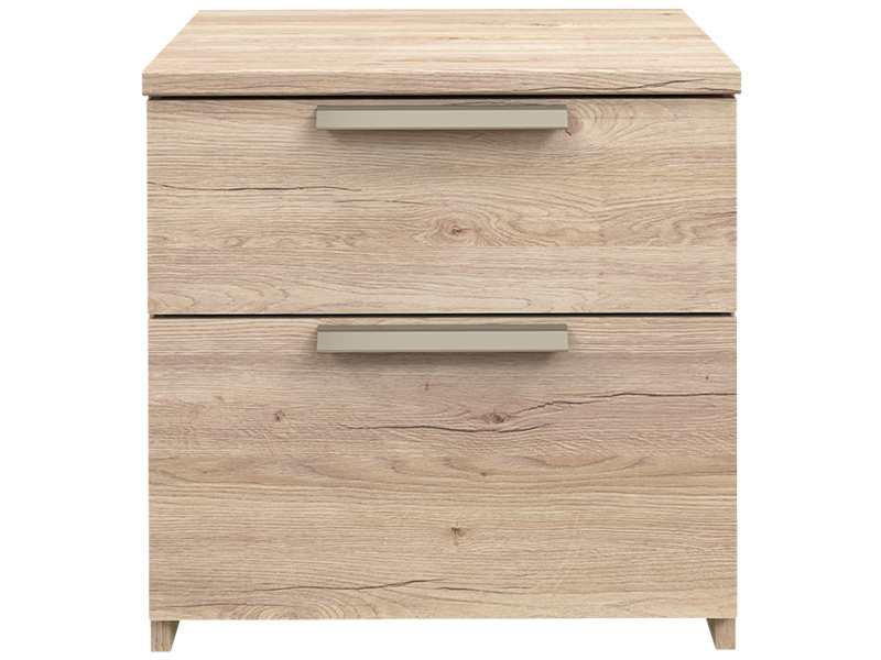Chevet TEMPO 2 tiroirs chêne