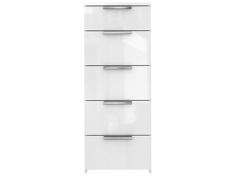 Commode TEMPO 5 tiroirs blanc