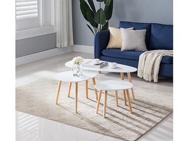 Set tables basses DOLMEN blanc