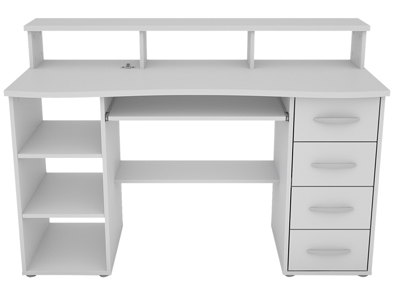 Bureau JONY USB blanc