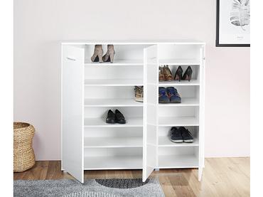 Meuble à chaussures MALIBU 3 portes blanc