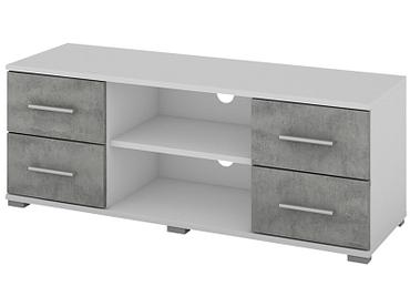 TV-Möbel OSKAR weiss, beton