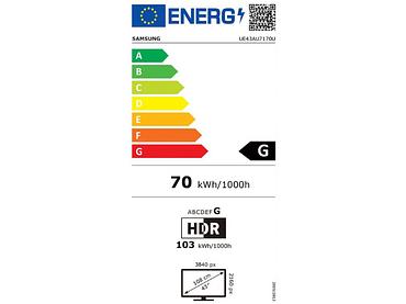 LED-Fernseher SAMSUNG 43''/108cm - UE43TAU7170UXXN