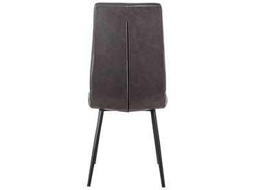 Stuhl NINA Synthetisches Leder schwarz