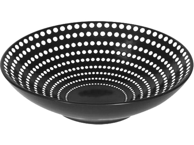 tiefe Teller GALAXY Ø19cm Keramik schwarz