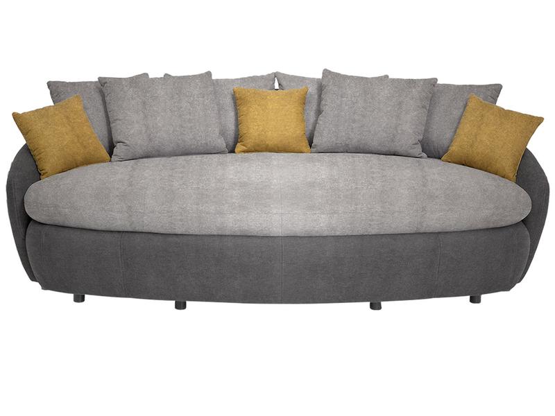Big Sofa CURACAO Stoff grau