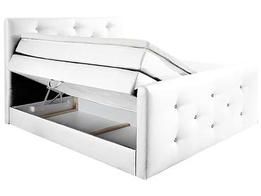 Boxspringbett BY CONFO BLING II 160x200cm weiss