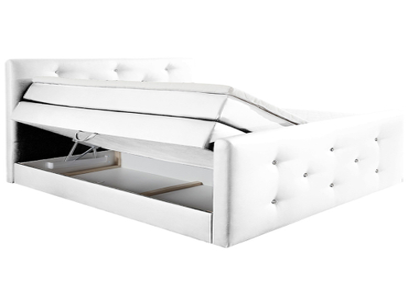 Boxspringbett BOXSPRING BY CONFO BLING II 180x200cm weiss