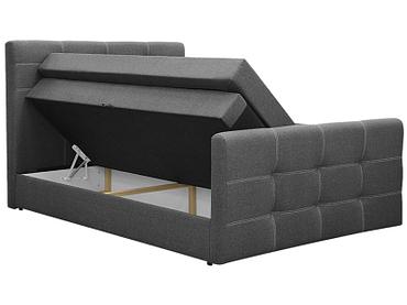 Boxspringbett BOXSPRING BY CONFO BLING II 180x200cm grau anthrazit