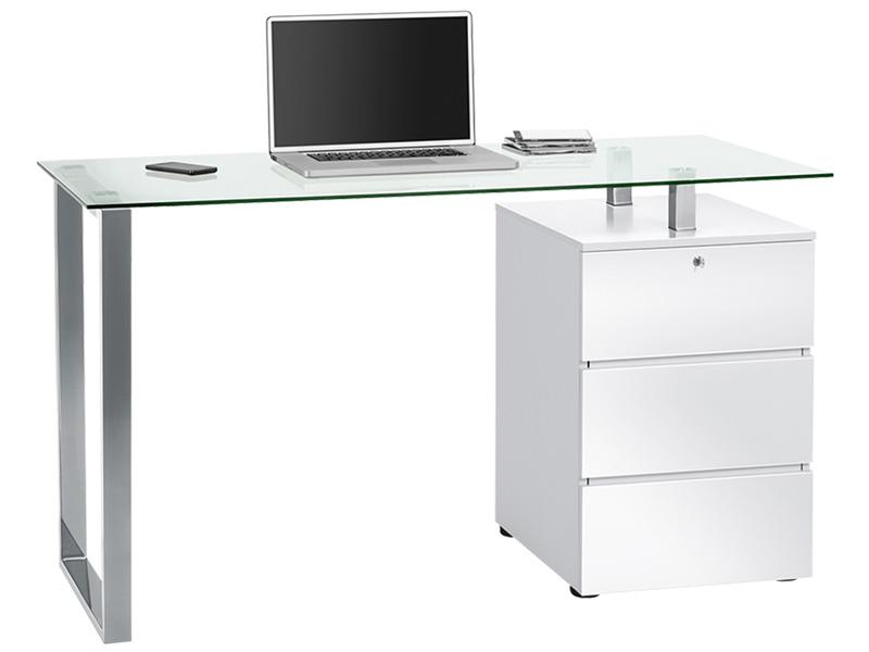 Schreibtisch GLOSSY weiss