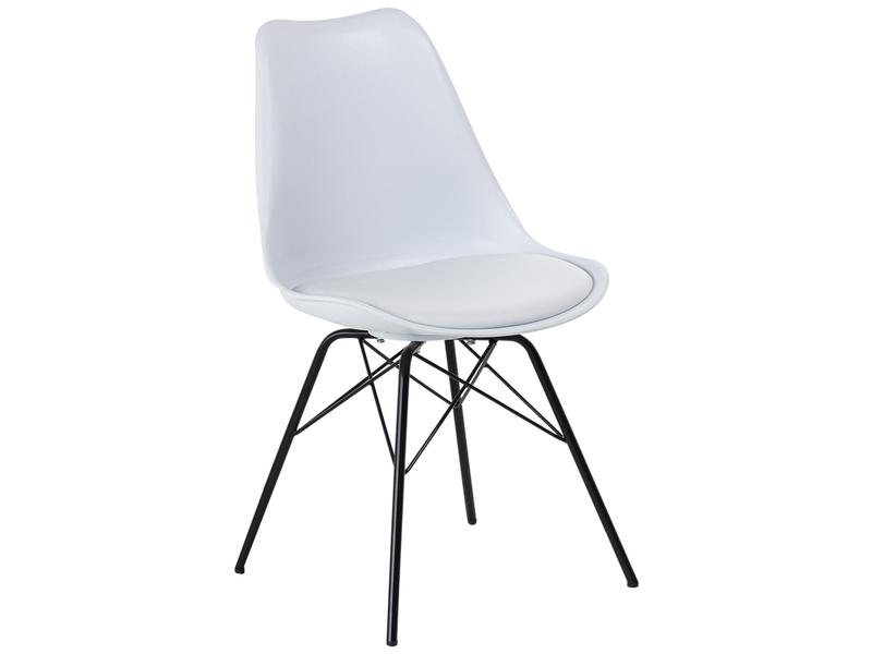 Stuhl MAPPY Synthetisches Leder weiss, schwarz