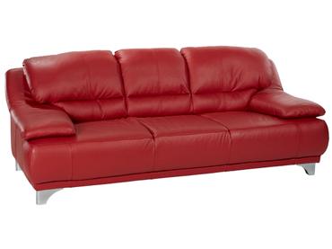 3er Sofa MARANELLO Echtleder rot