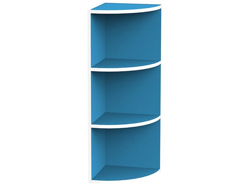Eck Bücherregal KIKI II blau 2 Tablare