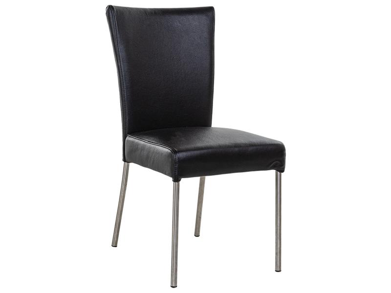 Stuhl PREMIUM Leder schwarz