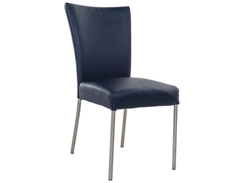 Stuhl PREMIUM Leder dunkelblau