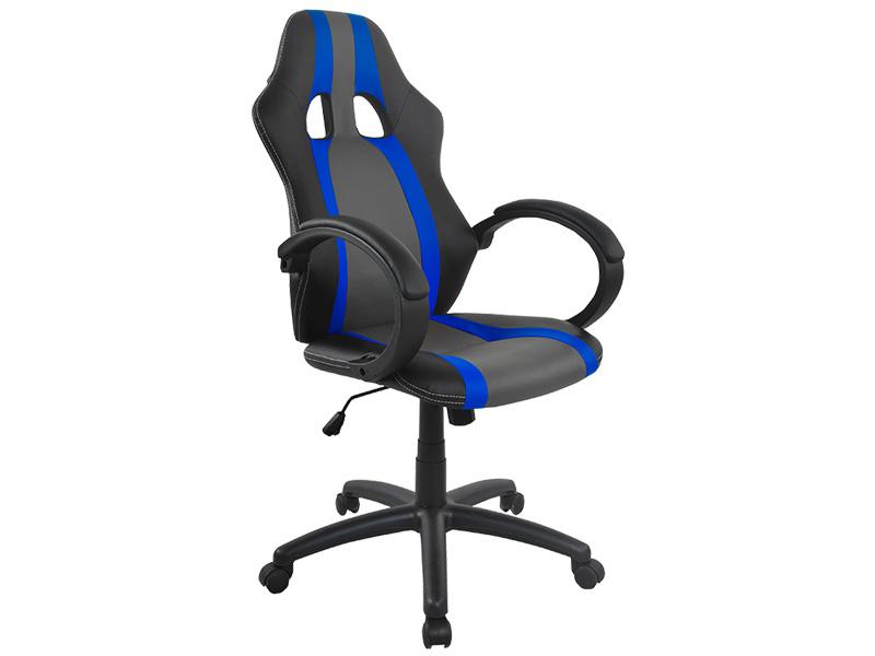 Bürostuhl ASTON schwarz, grau, blau