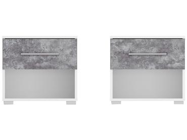 2 Nachttische-Set LYLIA 1 Schublade Spanplatte weiss