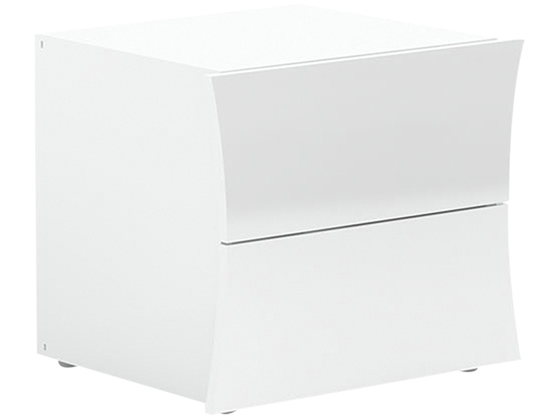 Nachttisch ARCO 2 Schubladen Spanplatte weiss