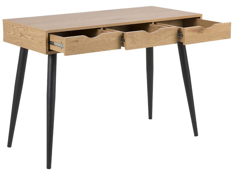 Schreibtisch NEPTUN wilde eiche,schwarz,eiche