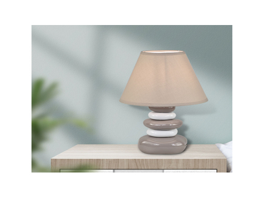 Tischlampe LED GALET 22m 35cm 60W grau