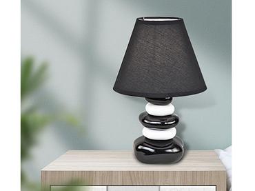 Tischlampe GALET 22m 35cm 60W schwarz