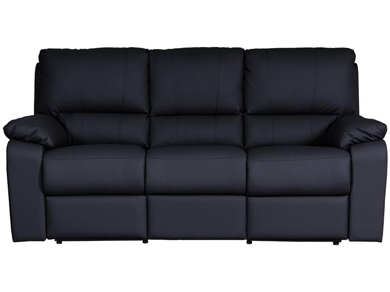 3er Sofa WINTER Synthetisches Leder schwarz