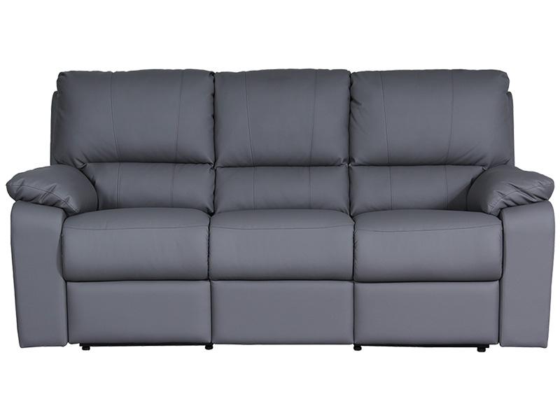 3er Sofa WINTER Synthetisches Leder grau