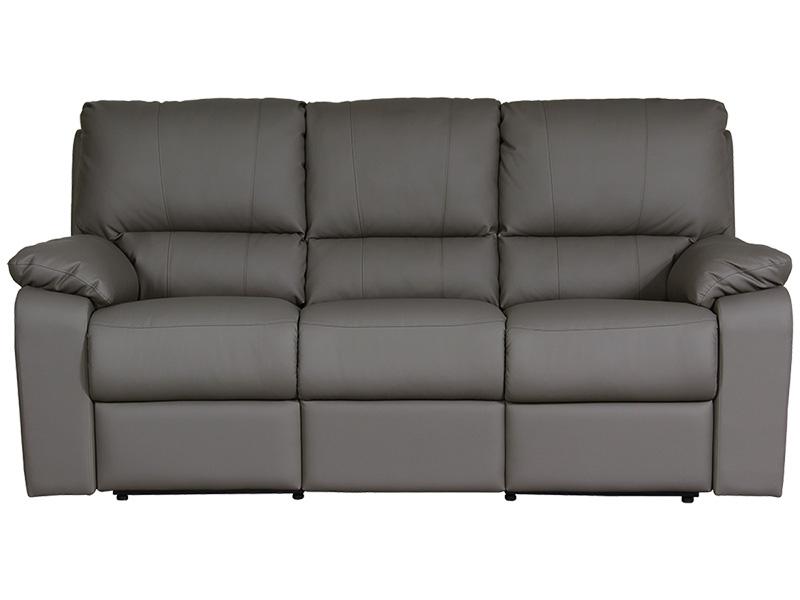 3er Sofa WINTER Synthetisches Leder taupe