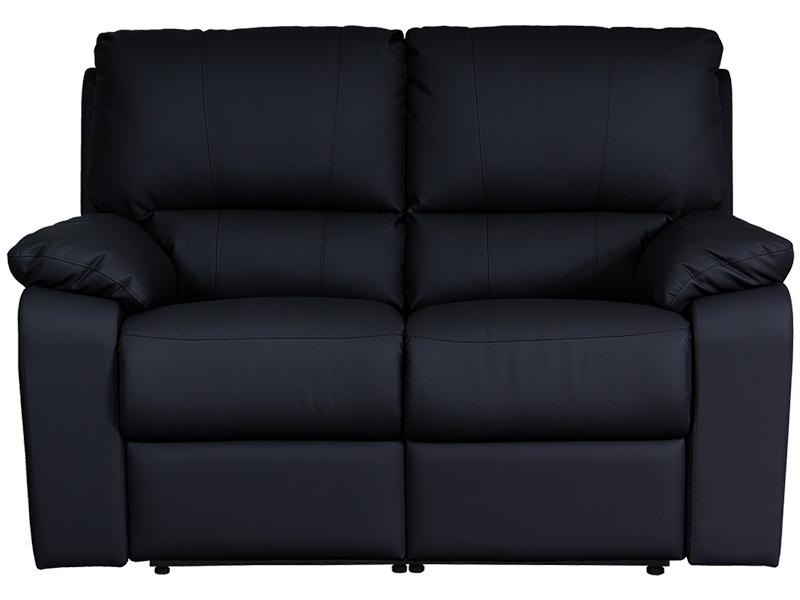 2er Sofa WINTER Synthetisches Leder schwarz