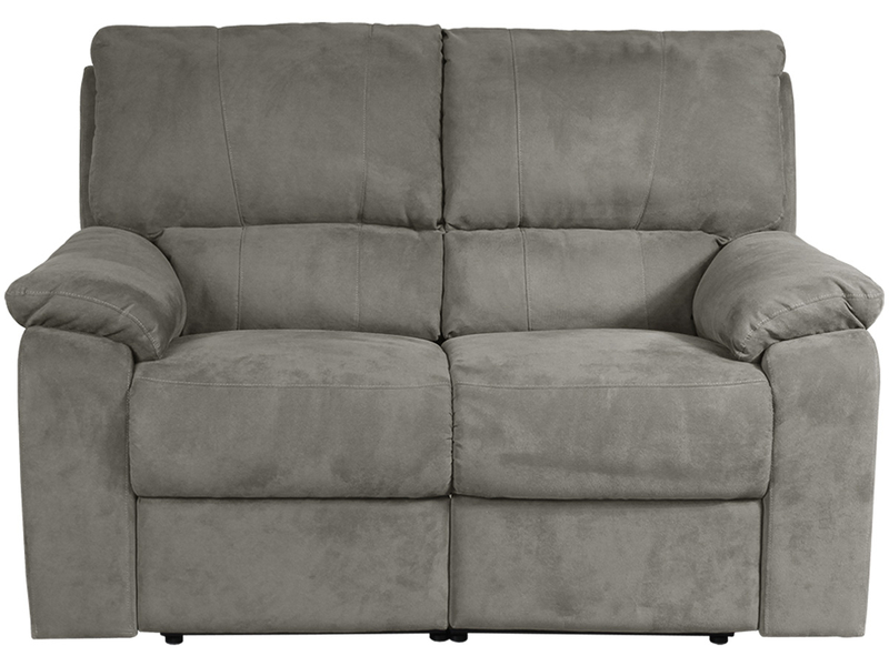 2er Sofa WINTER Stoff hellgrau