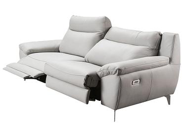 3er Sofa VERONA Echtleder grau