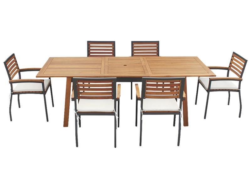 Set Gartentisch Und Gartenstuhle Thomas Akazie Conforama Ch