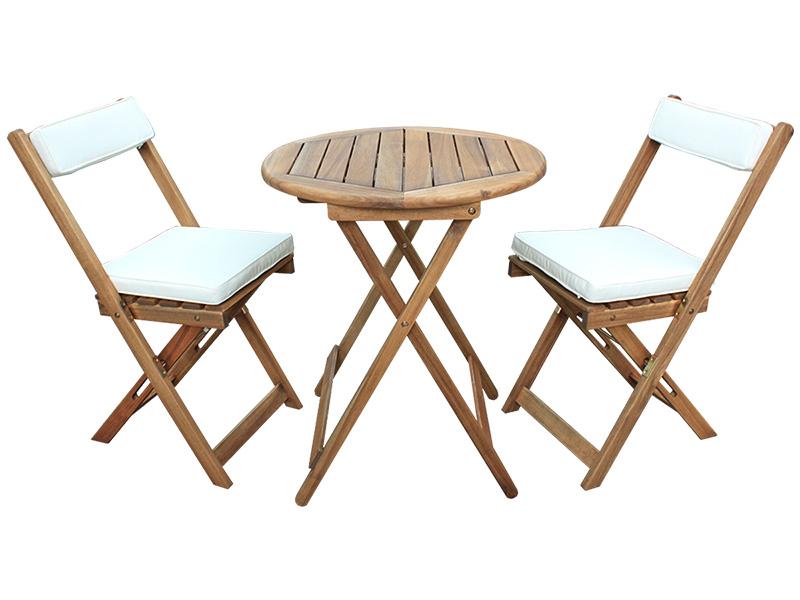Set Gartentisch und Gartenstühle KRETA natürliches holz