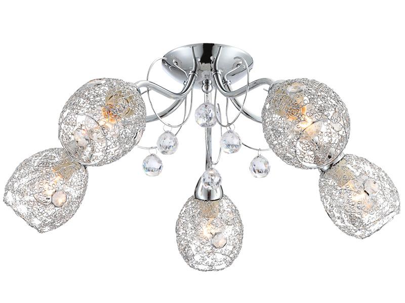 Deckenlampe LED SINCLAIR Ø22cm 40W silberfarben